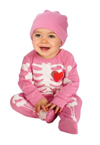 Rubie's Costume My First Halloween Pink Skeleton Costume