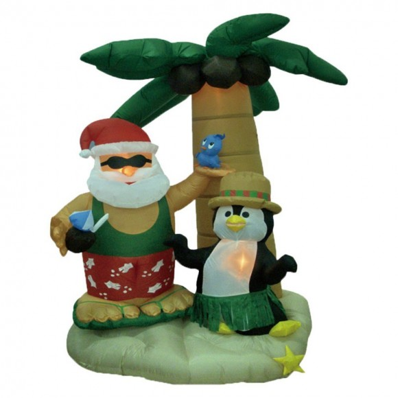 Christmas lawn Inflatables9